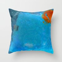 earth Throw Pillows featuring Earth by Fernando Vieira
