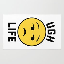 Ugh Life Funny Quote Rug