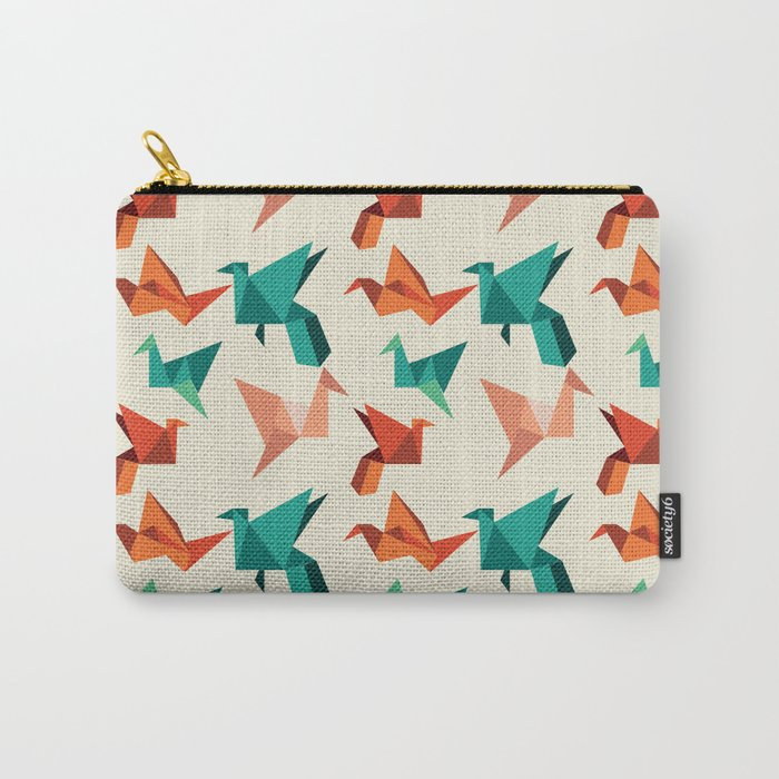 teal paper cranes Carry-All Pouch