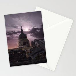 St Pauls full moon, London - United Kingdom Stationery Cards