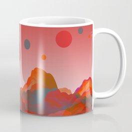 """Coral Pink Sci-Fi Mountains"" Coffee Mug"