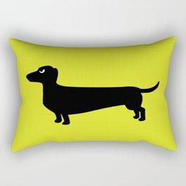 Angry Animals: Dachshund Rectangular Pillow