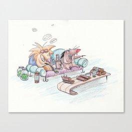 Angry Beavers Canvas Print