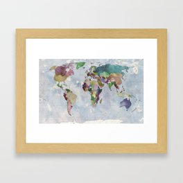 Task: Find the countries that are missing! Framed Art Print