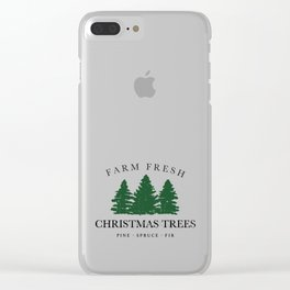 Farm Fresh Christmas Trees Clear iPhone Case