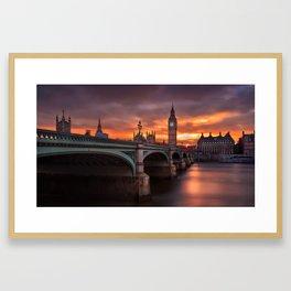 London's burning sky Framed Art Print
