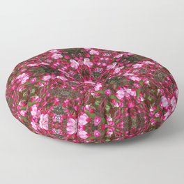 Spring blossoms kaleidoscope - Strawberry Parfait Crabapple Floor Pillow