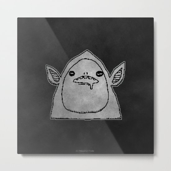 slobber (black and white) ( HQ pixel ) Metal Print