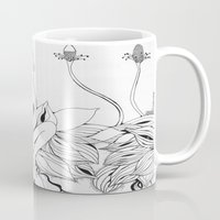 persona Mugs featuring Planting Persona by tatteredjeannestune