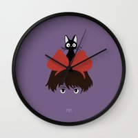 1989 Wall Clocks featuring Kiki, 1989 by Jarvis Glasses