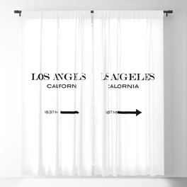 Los Angeles - California Blackout Curtain