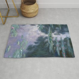 monet water lilies colorful Rug