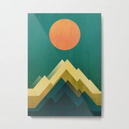 Gold Peak Metal Print