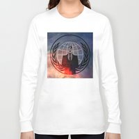 anonymous Long Sleeve T-shirts featuring Anonymous by Sney1
