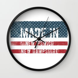 Made in New Ipswich, New Hampshire Wall Clock