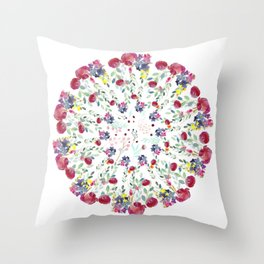 Floral Rhapsody Throw Pillow