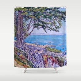 Monterey Bay Cypress Shower Curtain