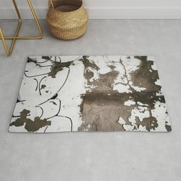 Rust White Brown Rug