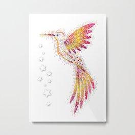 Bubble Bird Metal Print