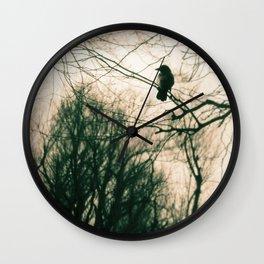 Crow Blur Wall Clock
