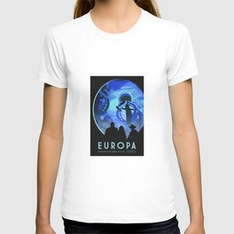 Europa Space Travel Retro Art T-shirt