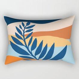 Moon + Night Bloomer / Mountain Landscape Rectangular Pillow