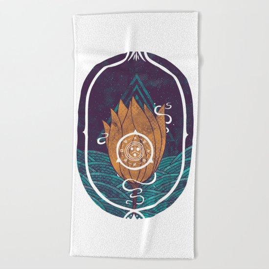 Pulsatilla Patens Beach Towel