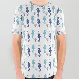 AFE Seahorse Pattern All Over Graphic Tee