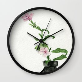 Little Impatiens Wall Clock