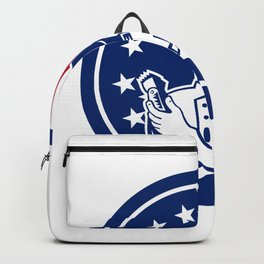 American Barber USA Flag Icon Backpack