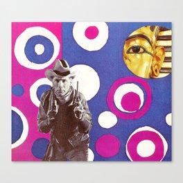 King Tut and the Gunslinger Canvas Print