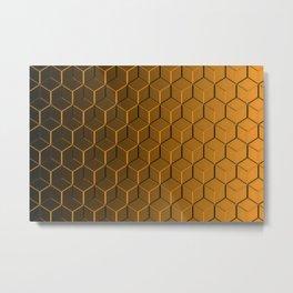 Copper Cubes Metal Print