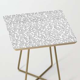 Banned Literature Internationally Print Side Table