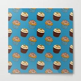 Pattern-cupcakes,-sweets,-food,-dessert,-dragee Metal Print