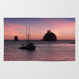 Sunset at First Beach - La Push Rug