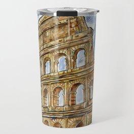 colosseum watercolor Travel Mug