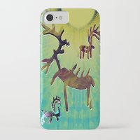 reindeer iPhone & iPod Cases featuring reindeer by donphil