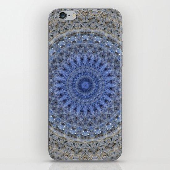 Gray and blue mandala by jaroslawblaminsky