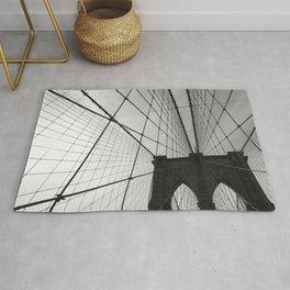 Brooklyn Bridge Black and White Rug