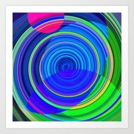 Re-Created Spiral Painting III by Robert S. Lee Art Print