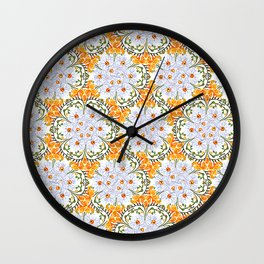 Freesia Floral Wall Clock