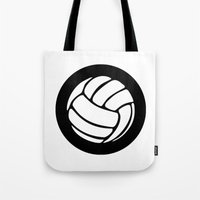 volleyball Tote Bags featuring Volleyball Ideology by ideology