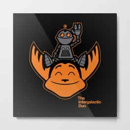 Ratchet & Clank Metal Print
