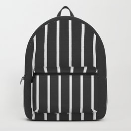Pinstriped Backpack