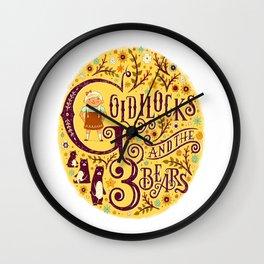 Goldilocks and the 3 Bears art print Wall Clock
