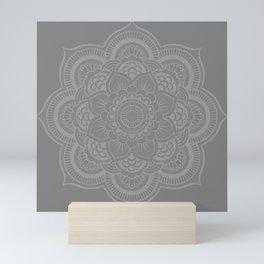 Gray Mandala Mini Art Print