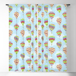 Colorful Hot Air Balloons Going Up Blackout Curtain