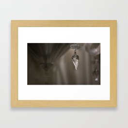 Shabby Chic Chandelier Framed Art Print