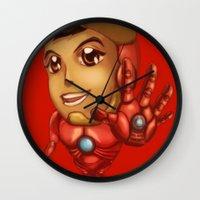 stark Wall Clocks featuring Tiny Stark by garciarts