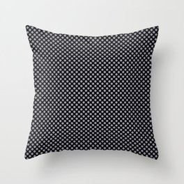 Black and Lilac Gray Polka Dots Throw Pillow